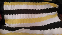 Medium Yellow & Grey & Black Blanket - C