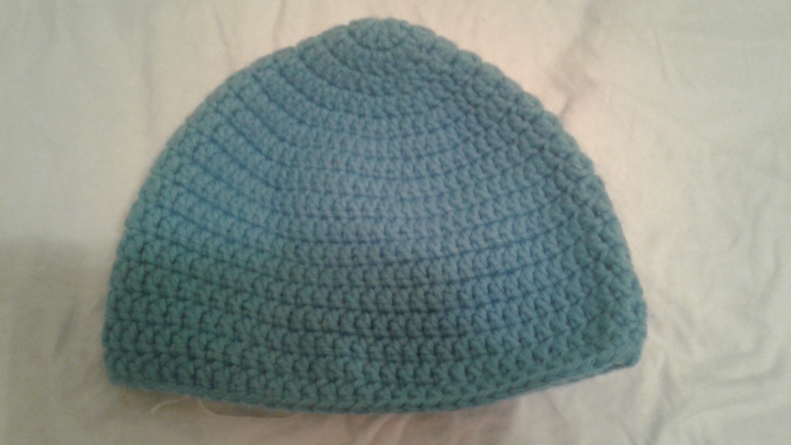 Pewter Blue Adult Size Winter Hat - Simple Crochet