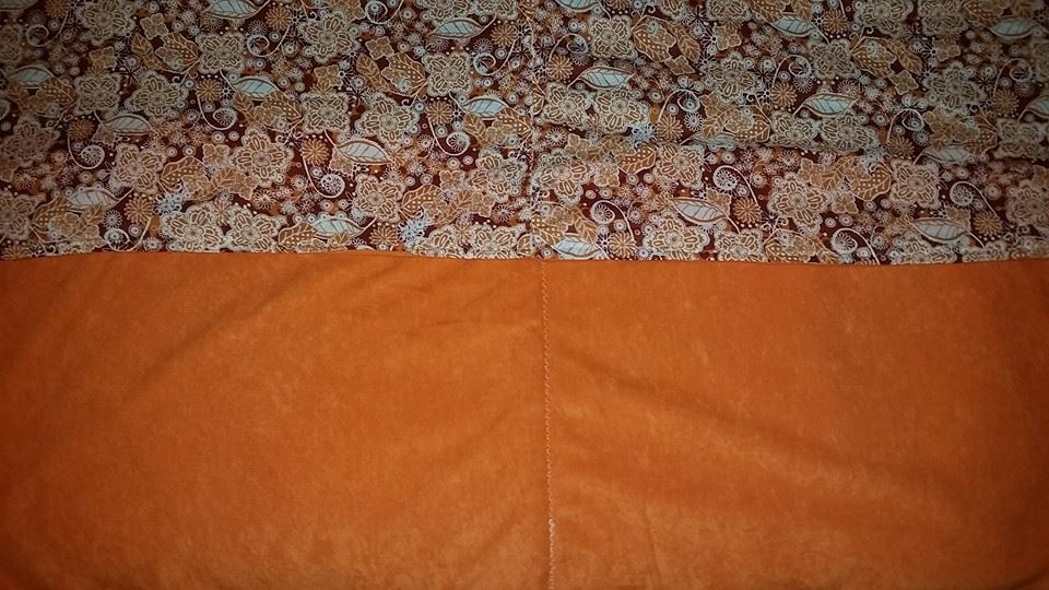 Medium Orange Quilted Lap Blanket - Simple Sewing