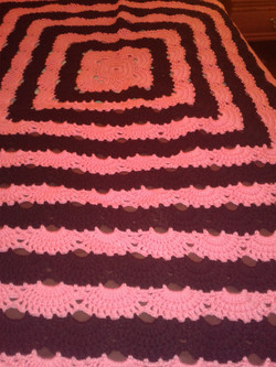 Medium Pink & Black Blanket - Virus Stit