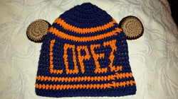 Chicago Bears Adult Size Winter Hat (Back) - Simple Crochet.jpg