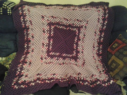 Large Purple & Pink Variegated Blanket -
