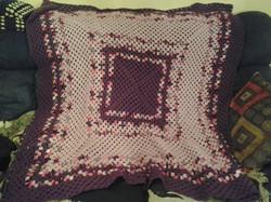 Large Purple & Pink Variegated Blanket -