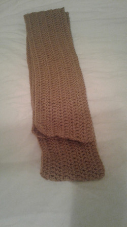 Adult Tan Scarf  - Simple Crochet
