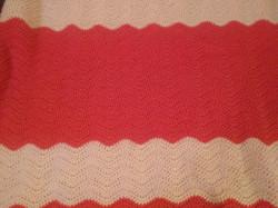 Medium Peach & Soft White Blanket - Ripp