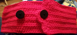 Headband Adult Size with Name (Pink & Black) Back2- Simple Crochet