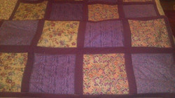 Medium Quilted Blanket of Squares - Simple Sewing