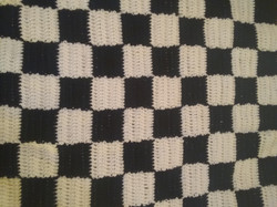 Medium Black & White Blanket - Checkerbo