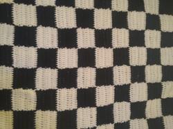 Medium Black & White Blanket - Checkerbo