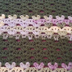 Medium Green & Variegated Blanket - Shel