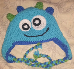 Monsters Inc Child Size Winter Hat (2) - Simple Crochet.jpg