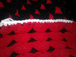 Large Red & Black Blanket - Double Sided