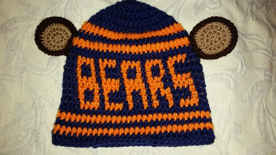 Chicago Bears Adult Size Winter Hat (Front) - Simple Crochet.jpg