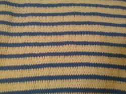 Medium Blue & Soft White Blanket - Loop