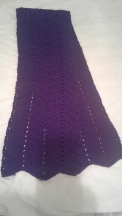 Adult Purple Scarf  - Ripple (both sides)