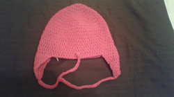 Pink Adult Size Winter Hat (flaps) - Simple Crochet