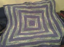 Large Purple & Green Variegated Blanket
