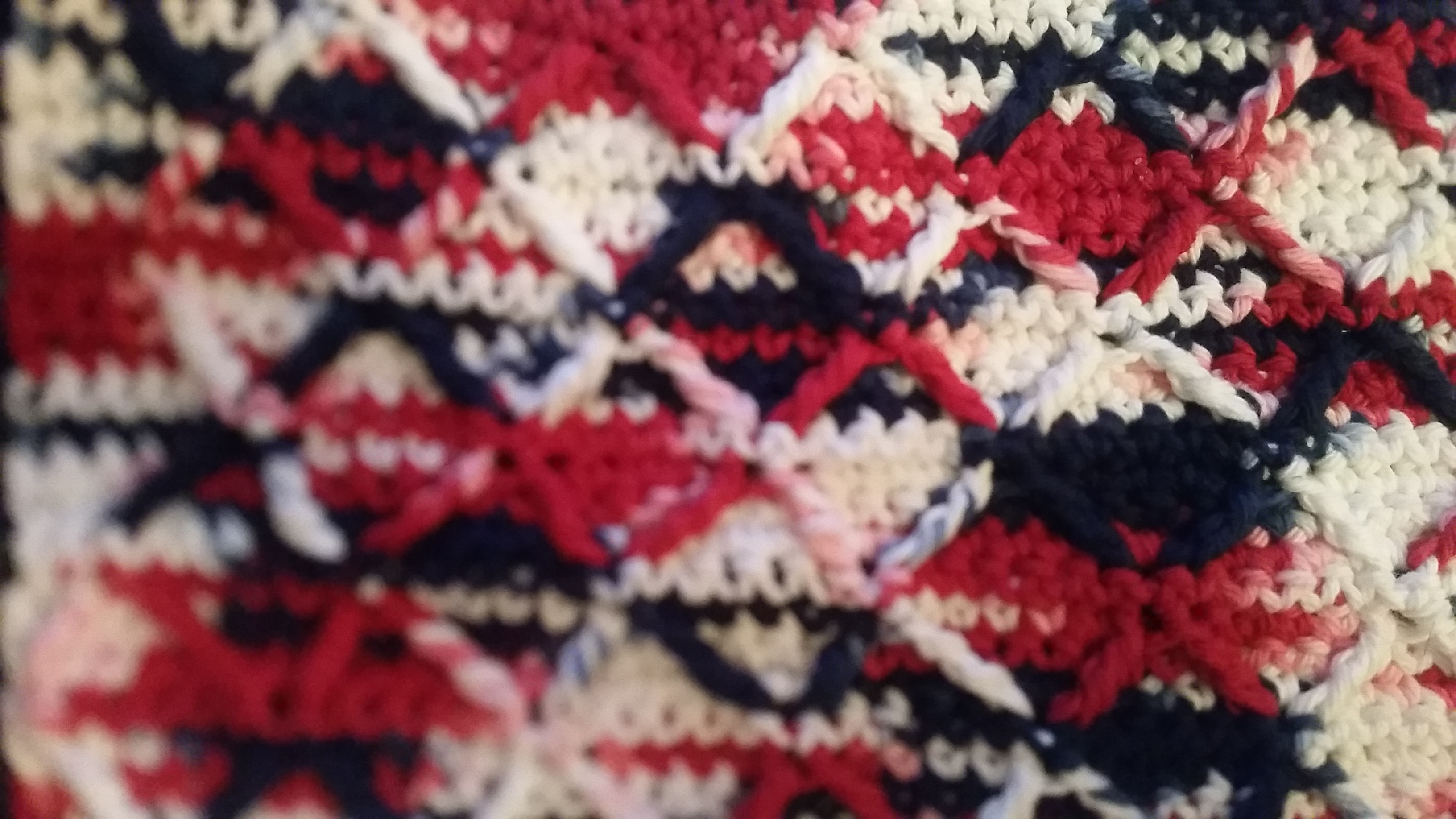 Medium Patriotic Washcloth - Simple Crochet