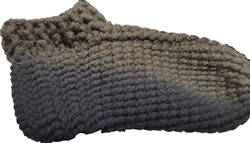 Adult Grey Double Sole Slippers-Side