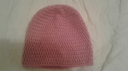 Pink Adult Size Winter Hat - Simple Crochet
