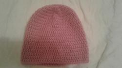 Pink Adult Size Winter Hat - Simple Crochet