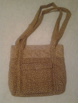 Yellow Patterned Quilted Handbag - Simple Sewing.jpg