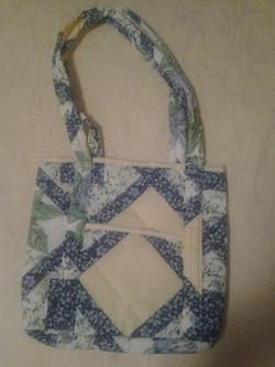 Blue Flower Quilted Pattern Handbag - Simple Sewing.jpg