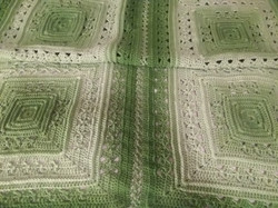 Medium Green Apple Blanket - Lunar Cross