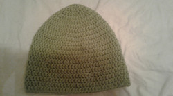 Soft Green Adult Size Winter Hat - Simple Crochet