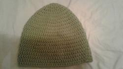 Soft Green Adult Size Winter Hat - Simple Crochet