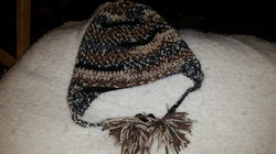Brown Adult Size Winter Hat with Tassels - Simple Crochet.jpg