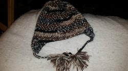 Brown Adult Size Winter Hat with Tassels - Simple Crochet.jpg