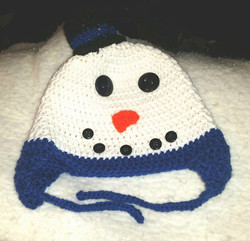 Snowman Adult Size Winter Hat - Simple Crochet.jpg