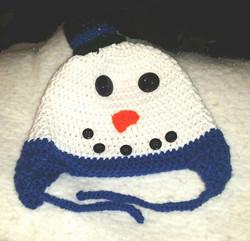 Snowman Adult Size Winter Hat - Simple Crochet.jpg