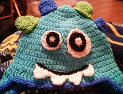 Monsters Inc Child Size Winter Hat - Simple Crochet.jpg