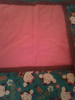 Monkey & Pink Baby Blanket2