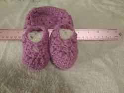 Hat & Bootie Infant Dark Pink