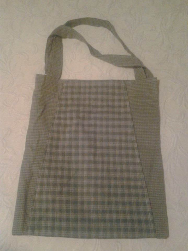 Medium Olive Green Checkered Handbag - Simple Sewing.jpg
