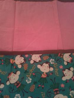 Monkey & Pink Baby Blanket
