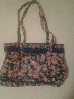 Pink & Blue Pattern Quilted Handbag - Simple Sewing.jpg