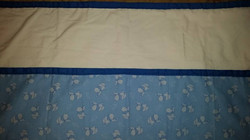Medium Blue Quilted Baby Blanket - Simple Sewing