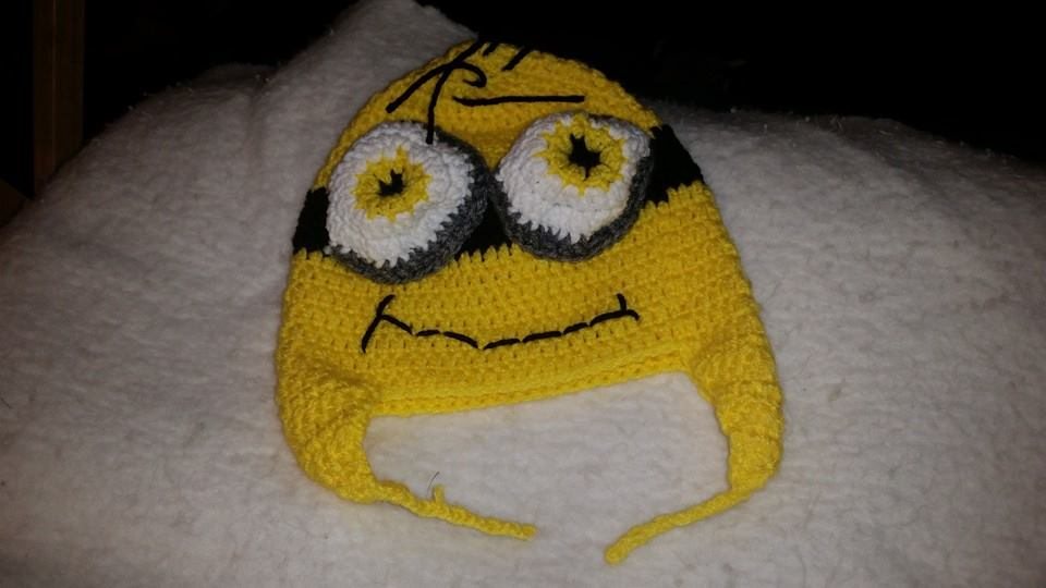Despicable Me Child Size Winter Hat (Yellow & 2 Eyes) - Simple Crochet.jpg