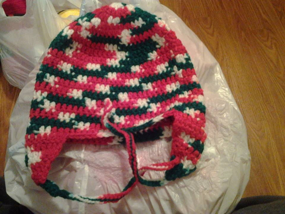 Christmas Colors Adult Size Winter Hat - Simple Crochet.jpg