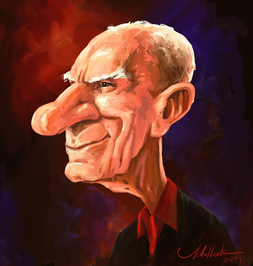 Caricatura -  Ariano Suassuna