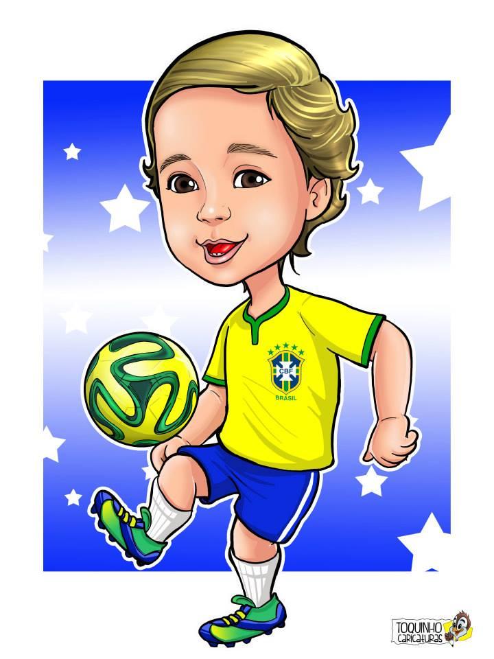 Caricatura - futebol - Jundiai SP