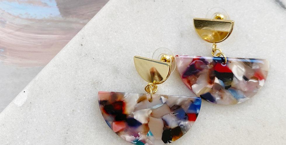 Colorful Tortoise earrings