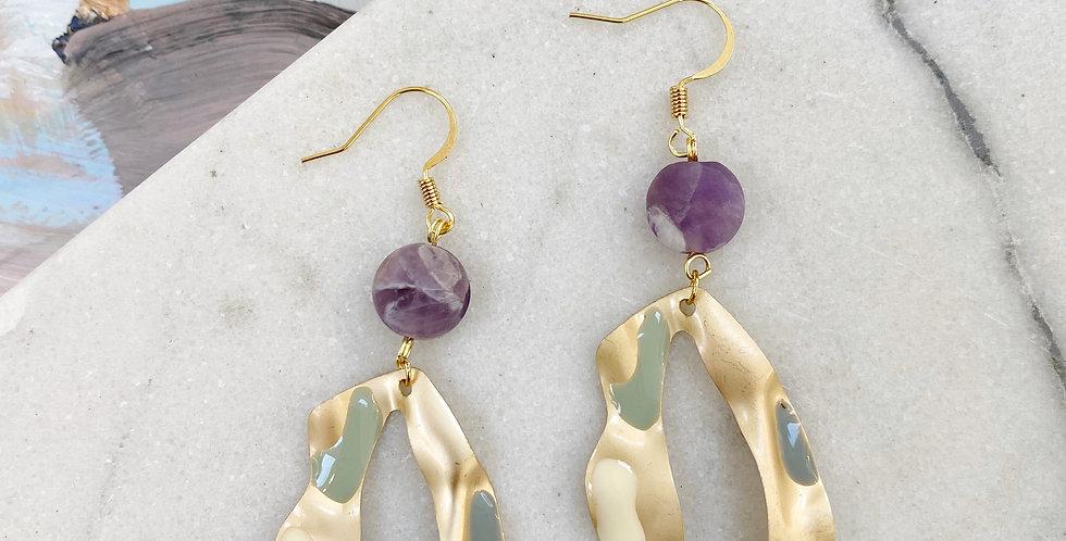 Matte Amethyst earrings