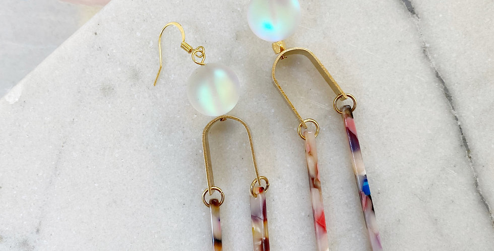 """""""We're all connected"""" earrings"""