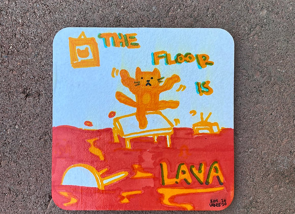 THE FLOOR IS LAVA Coaster