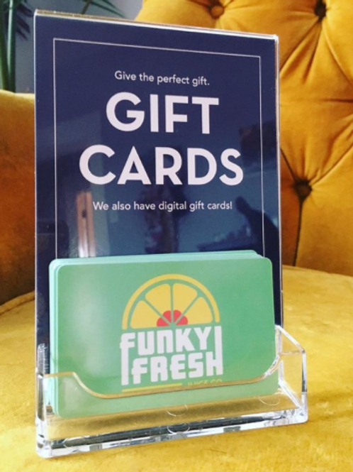 Funky Fresh Juice Gift Card